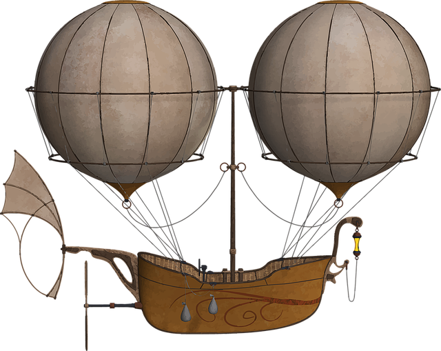Air Ship, Dirigible, Flying, Hot Air Balloon