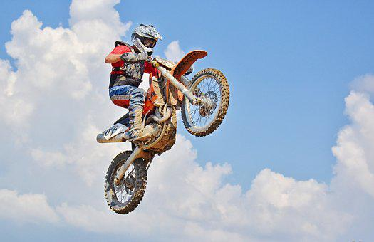 Dirt Bike, Air Jump, Motocross Rider, Extreme Sports