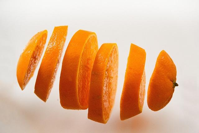 Orange, Food, Juicy, Fruit, Cut Into Slices, Disc