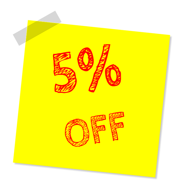 Discount, 5 Off, Sale, Retail, Percent, Special