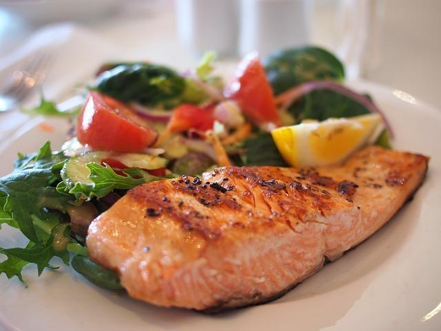 Salmon, Dish, Food, Meal, Fish, Seafood, Plate