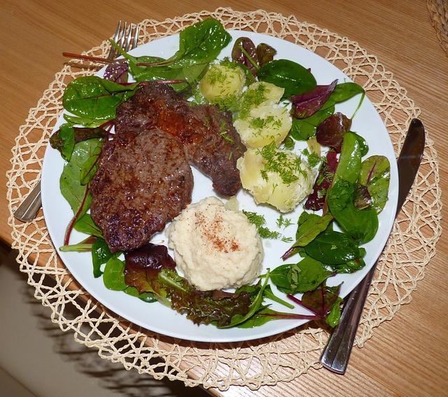 Steak, Rib-eye Steak, Dish, Dinner