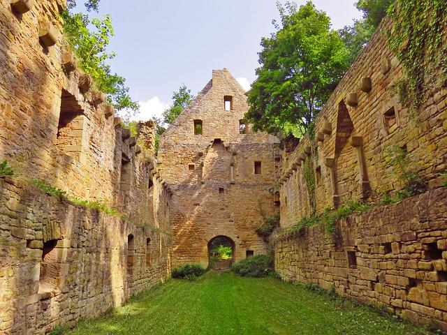 Monastery Ruins, Mystical, Monastery, Disibodenberg