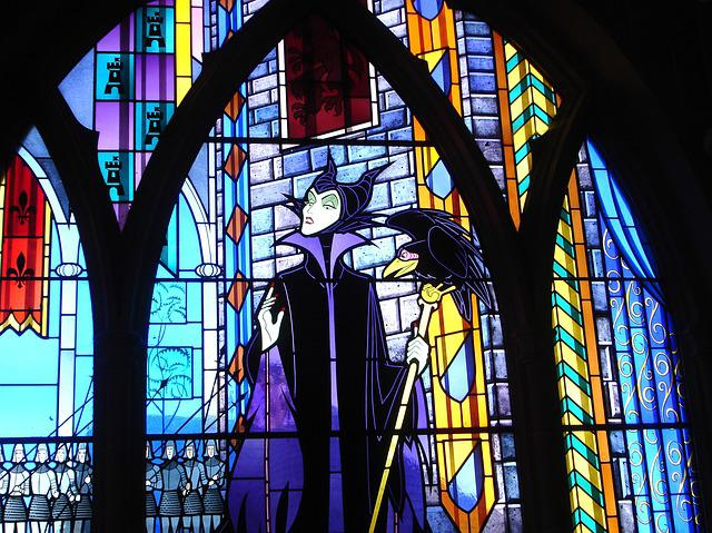 Stained Glass, Stepmother, Fairy Tale, Disneyland