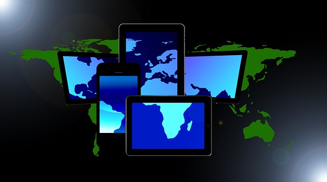 Display, Smartphone, Tablet, Notebook, Continents