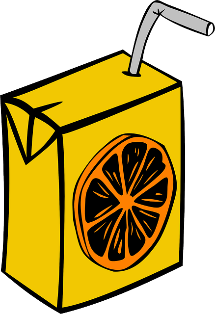 Juice, Box, Carton, Disposable, Straw, Orange, Beverage
