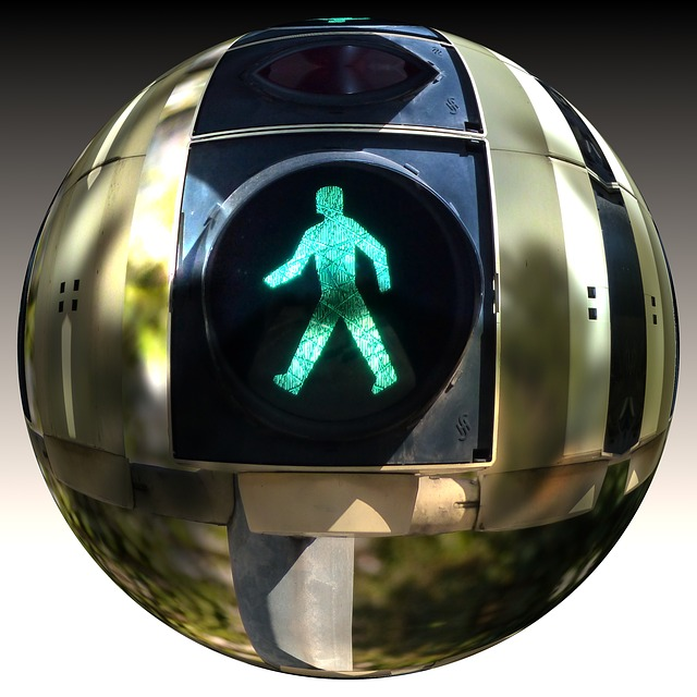 Ball, District, Traffic Lights, Males, Little Green Man