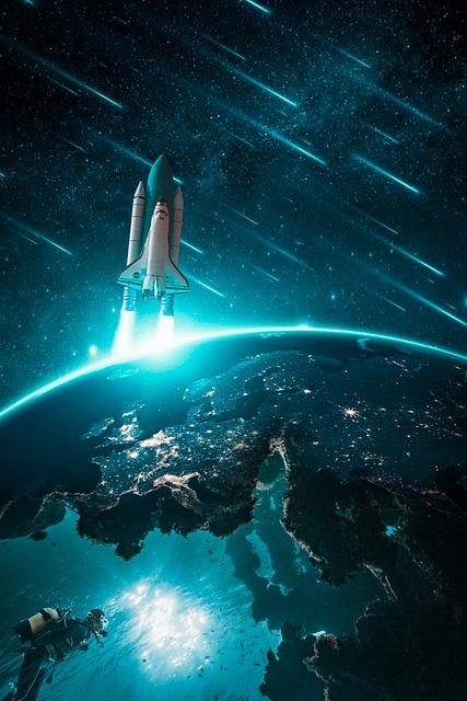 Rocket, Land, Diver, Comet, Sky, Cosmos, Planet