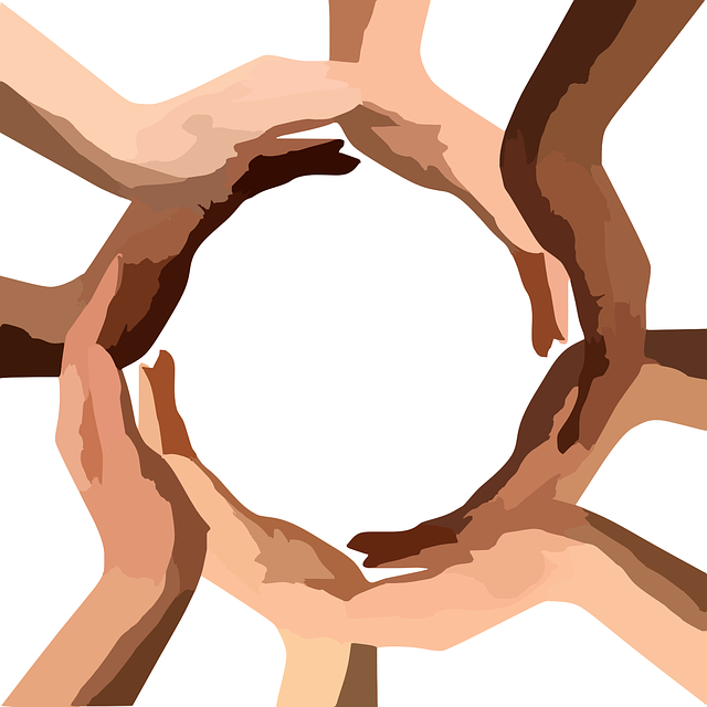 Circle, Hands, Teamwork, Community, Diversity