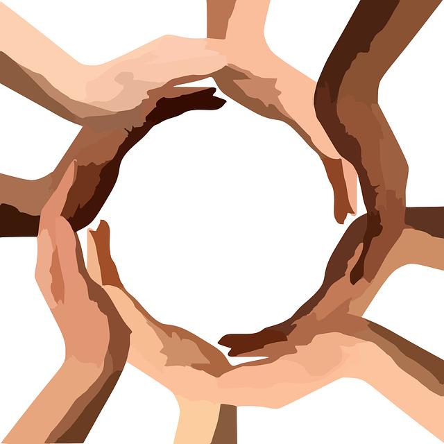 Circle, Hands, Teamwork, Community, Diversity