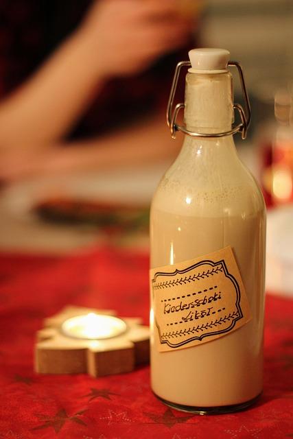 Christmas, Alcohol, Liqueur, Bottle, Diy