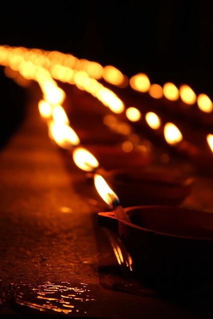 Candles, Night, Diyas, Diwali, Deepam, Festival