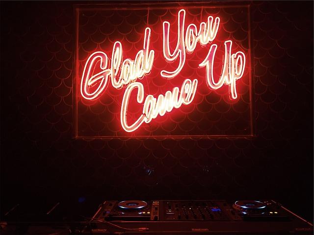 Nightclub, Dj, Equipment, Mixer, Cdjs, Turntables, Led