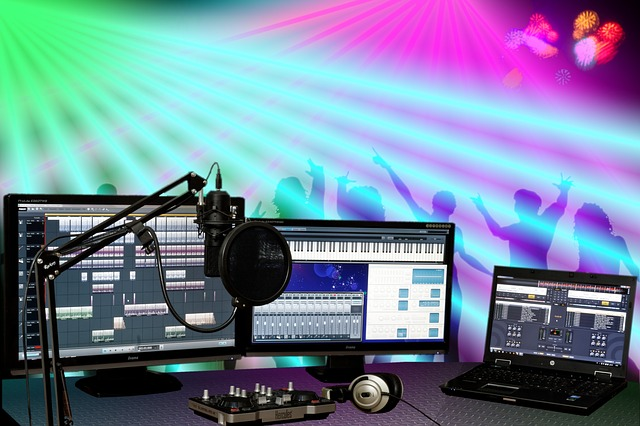 Party, Celebrate, Disco, Dj, Microphone, Pc, Music