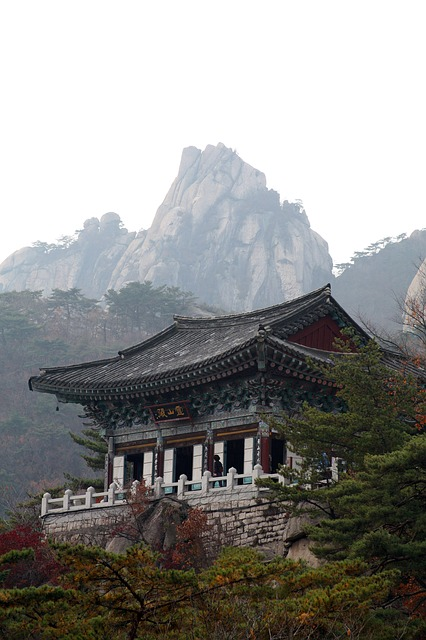 Temple, Retina Month Company, Dobong, Seoul, Scenery