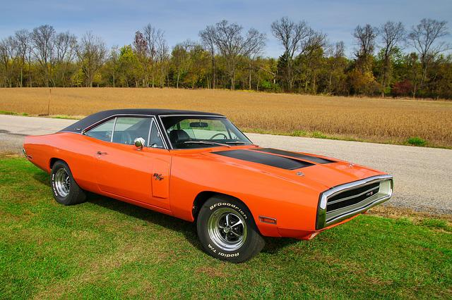 Field, Charger, Car, Muscle, Dodge