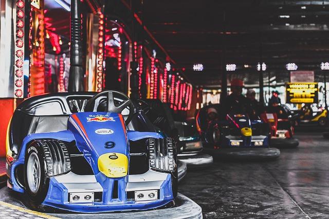 Amusement Park, Bumper Cars, Dodgems