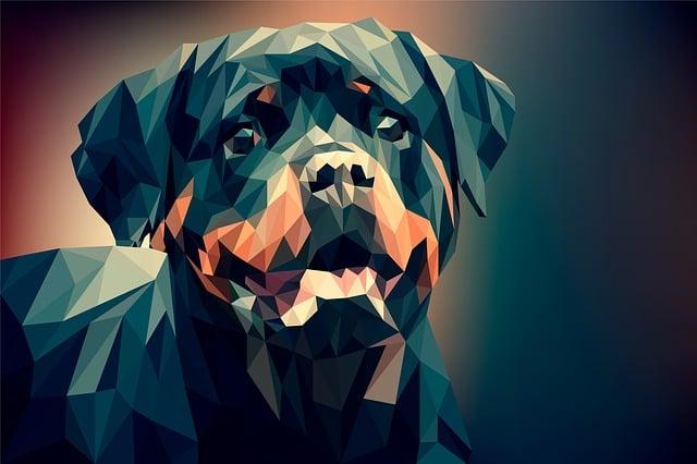 Dog, Illustration, Background, Portrait, Beautiful
