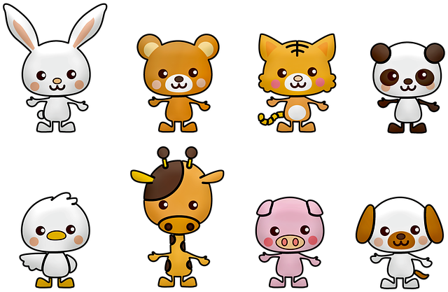 Kawaii, Panda, Rabbit, Bear, White, China, Dog, Bird