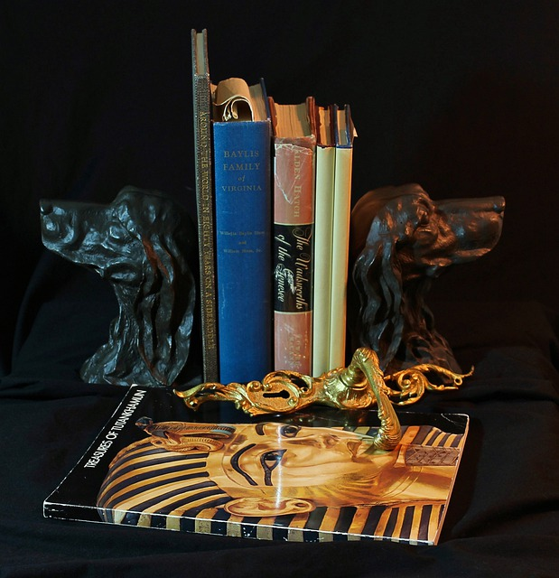Bookends, Bronze, Dogs, Old Books, Door Latch, Gilt