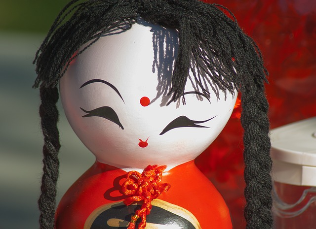 Doll, Asian, Japanese, Figurine