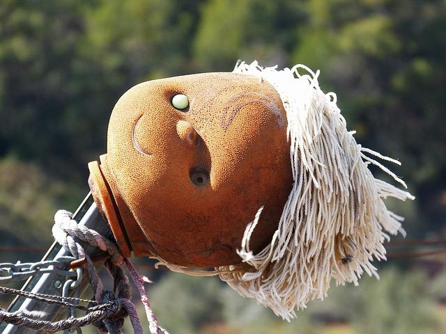 Scarecrow, Doll Head, Disturbing, Sinister, Mystery