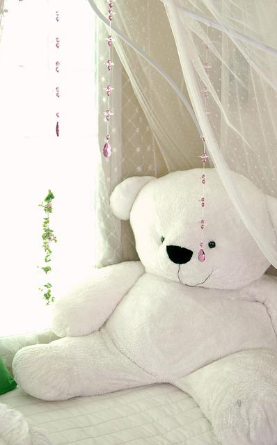 Winnie, Doll, White, Bed, Curtain