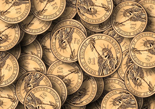 Dollars, Coins, Money, Currency, Finance, Wealth