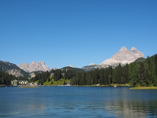 Misurinase, Lake, Dolomitensee, Rautkofel