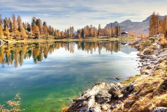 Lago Federa, Bergsee, Dolomites, Landscape, Alpine