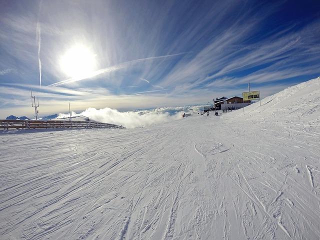 Dolomites, Ski, Snow, Blue White, Winter, Sky, Wintry