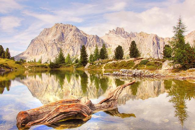 Lech Limides, Dolomites, Nature, Blue, Lake, Summer