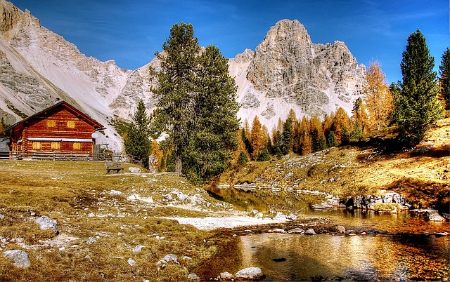 Nature, Mountain, Landscape, Waters, Dolomites, Italy