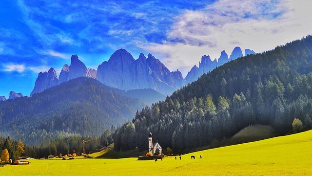 Italy, Dolomiti, Nature, Chapel