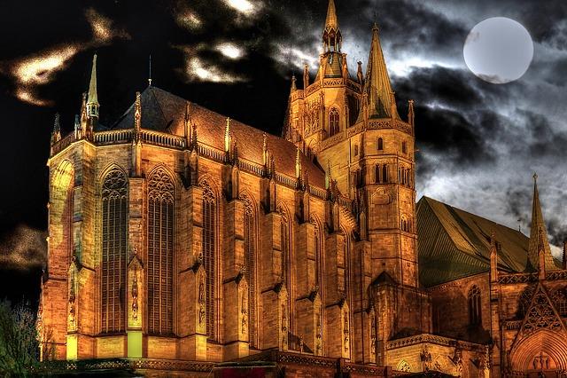 Thuringia Germany, Erfurt, Dom, Historically