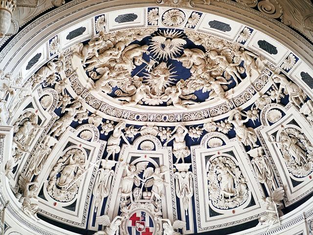 Trier, Dom, West Choir, Ceiling Relief, Baroque, Stucco