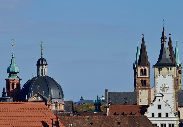 Würzburg, Church Steeples, Dome, Dom, Historically