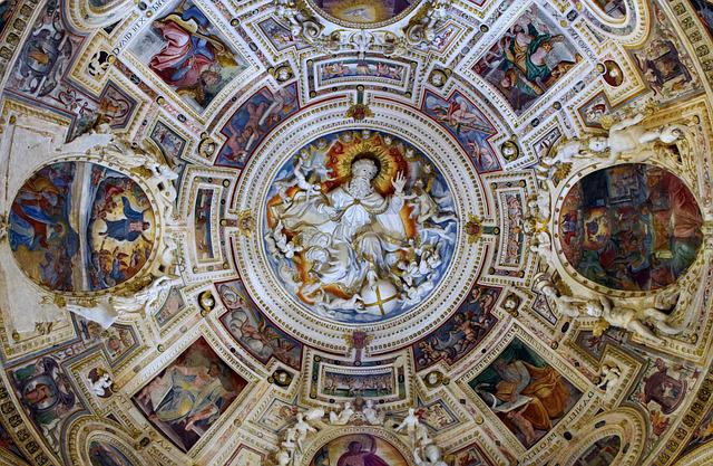 Church, Dome, Historically, Sicily, Italy