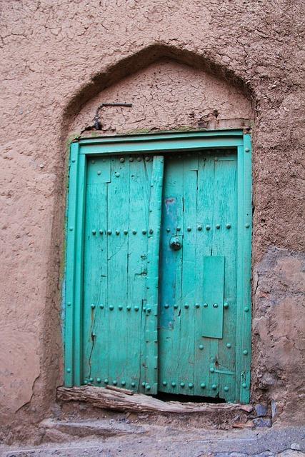 Door, Doorway, Architecture, Entrance, Wall, Al Hamra