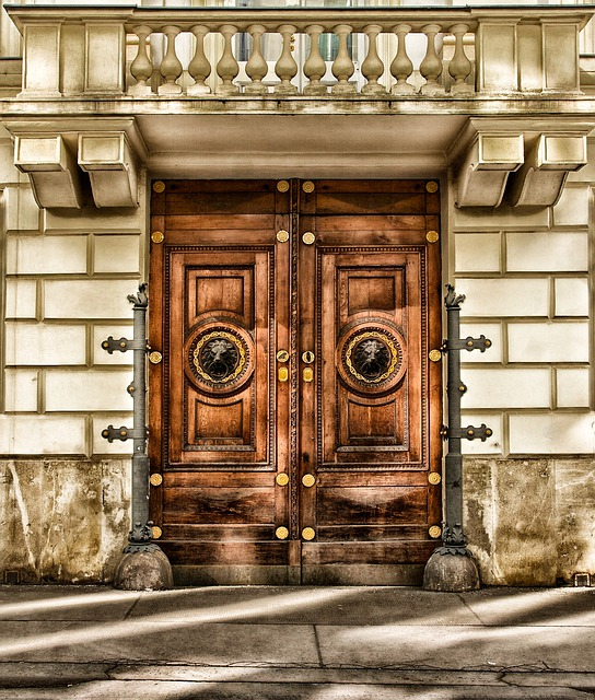 Vienna, Austria, Building, Door, Architecture, Wood