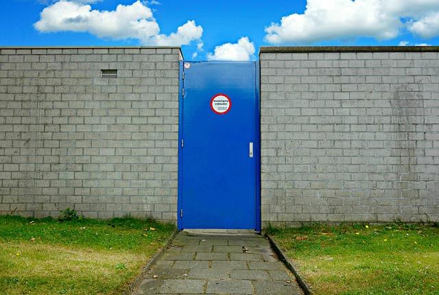Door, Entrance, Wall, Door In Wall, Brick Wall