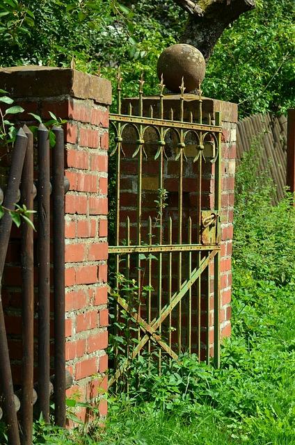 Garden Door, Input, Garden Gate, Goal Eisentor, Door