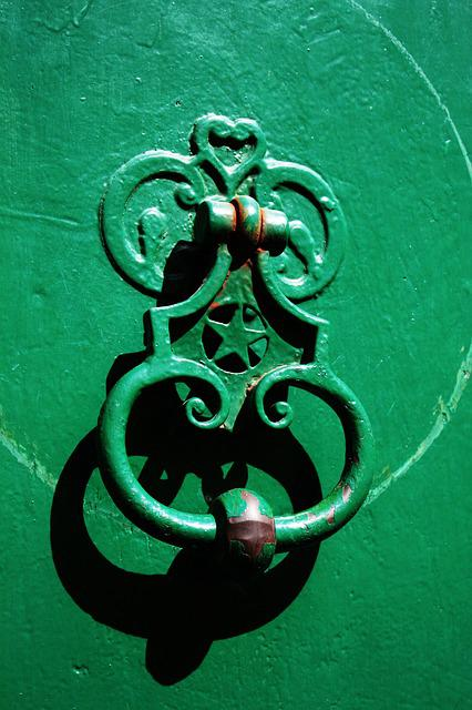 Door Knocker, Green, Door