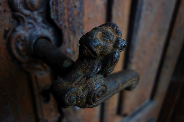 Door Handle, Lion, Fittings, Cast Iron, The Door