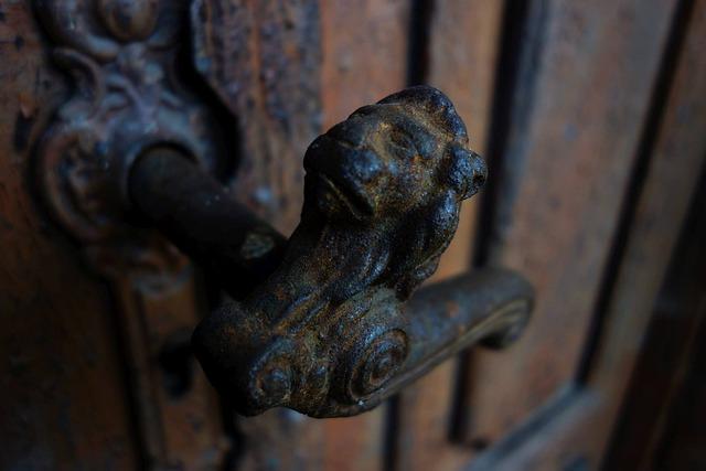 Door Handle, Lion, Fittings, Cast Iron, The Door