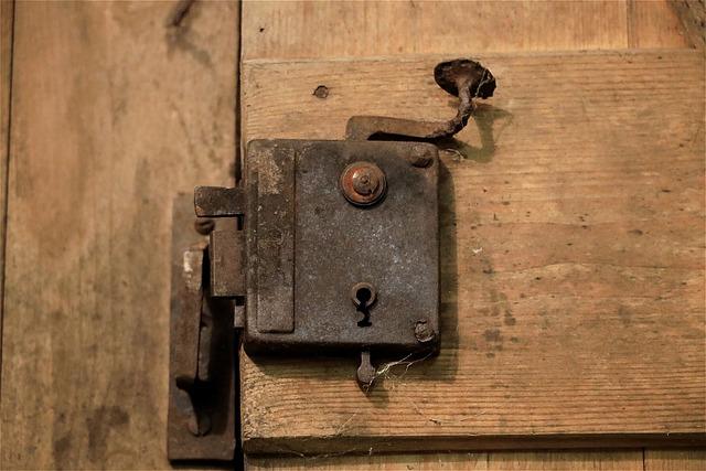 Door Lock, Old, Metal, Door Handle, Door Hardware