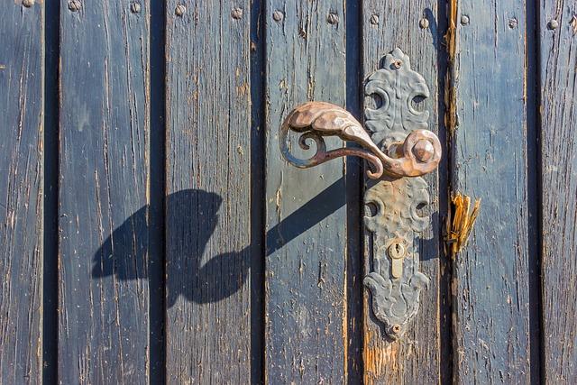 Door Knob, Door Handle, Metal, Iron, Stainless, Old