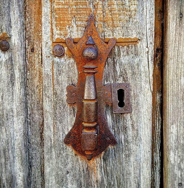 Door, Door Knocker, Lock