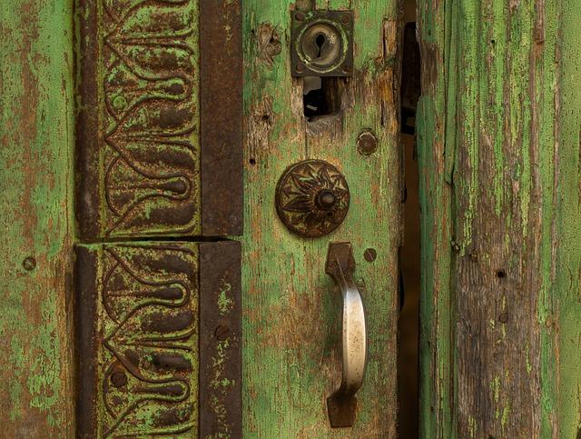Door, Lock, Wooden Door, Entry