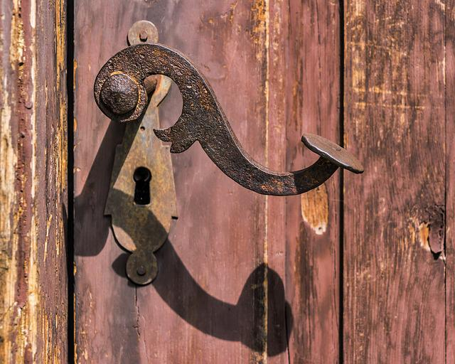 Handle, Rusty, Old, Lock, Rust, Iron, Entrance, Door